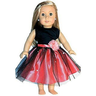 Made to fit 18 Inch dolls such as American Girl, Madame Alexander, Our Generation, etc.-Quality Cotton Satin and Tulle