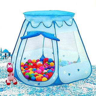 Asiacc Princess Tent Indoor and Outdoor 1 to 8 Years Old Children Game Play Toys Tent Balls Not Included (Blue)