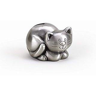 Pewter Finish Kitty Bank