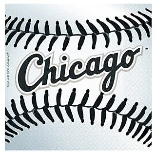 Chicago White Sox Paper Beverage Napkins (36 Pack)