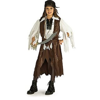 Rubies Halloween Concepts Childrens Costumes Caribbean Pirate Queen - Small