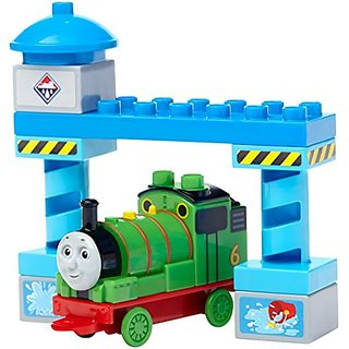 Buildable Percy engine for lots of adventures on the Island of Sodor-Constructible gateway with a sticker sheet to deco