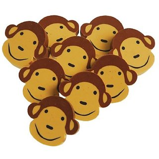 Monkey Face Erasers 24-Pc