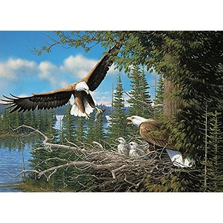 Nesting Eagles, A 1000 Piece Jigsaw Puzzle by Cobble Hill