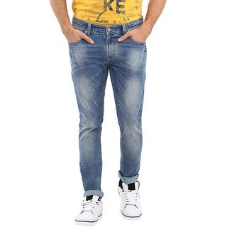 Spykar Blue Skinny Fit Low Waist Men Jeans