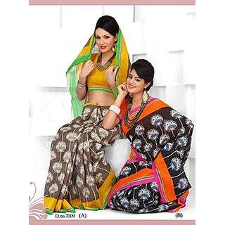 Awesome Printed Pure Cotton Saree Option 2