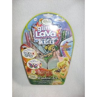 Disney Princess Tinkerbell and the Lost Treasure Glitter Lava ICE Window Art Kit