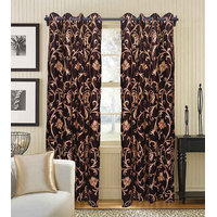 Deal Wala Pack Of 2 Leaves Design Door Curtain{sp 11}
