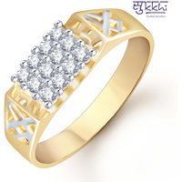 Sukkhi Gold And Rhodium Plated Cz Ring For Men(115Grk450)