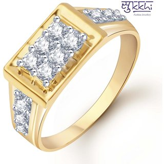 Sukkhi Gold And Rhodium Plated Cz Ring For Men(103Grk510)