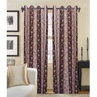 Deal Wala Pack Of 2 Golden Striped Design Door Curtain{bb04}