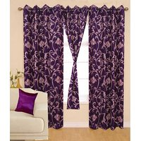 Deal Wala Pack Of 2 Leaves Design Door Curtain{bb07}