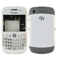 BLACKBERRY CURVE 8520 FULL BODY PANEL HOUSING COVER CASE - WHITE