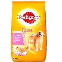 Pedigree (Puppy - Dog Food) Chicken  Milk, 10 Kg Pack