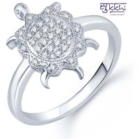 Sukkhi Incredible Micro Pave Setting Rhodium Plated Cz Ring For Women(324R640)