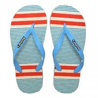 Rushers Flip Flops For Men Stripe Sky Blue