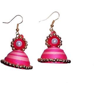 Fashionable Handmade paper earrings for women  girls by shrungarika ( J-15)