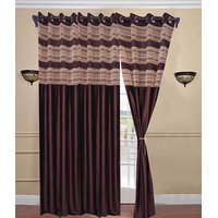 Deal Wala Pack Of 2 Designer Tissue Eyelet Curtain{dtsl992}