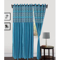 Deal Wala Pack Of 2 Designer Tissue Eyelet Door Curtain{dtsl9993}