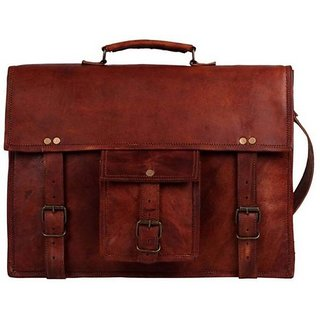 Tuzech Laptop Messenger Bag  (Brown) 13 Inches
