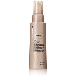 Goldwell Kerasilk Rich Keratin Care Silk Fluid for Unisex, 3.4 Ounce