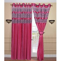 Deal Wala Pack Of 2 Designer Tissue Curtain (dtsl994)