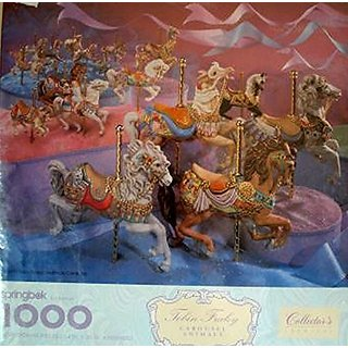 Springbok Tobin Fraley Carousel Animals Collectors Series 1000 Piece Puzzle 24