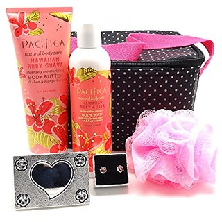 5 Pc Hawaiian Ruby Guava Bath & Body Bundle with Cooler Case