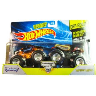 Hot Wheels - Monster Jam 2014 Off-Road - Demolition Doubles - Predator and Monster Mutt
