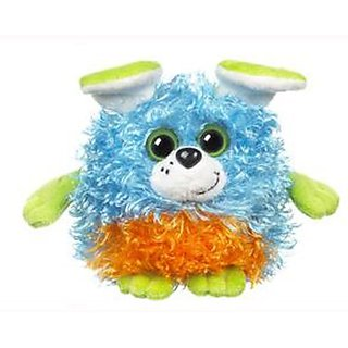 Blue Orange & Green Puppy Whoorah Friends Plush by Ganz