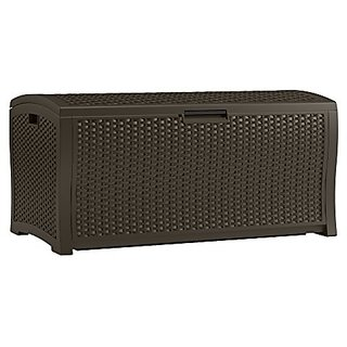 Suncast DBW9935 Resin Rattan Deck Box, 122-Gallon