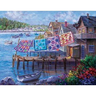 Dockside Quilts a 1000-Piece Jigsaw Puzzle by Sunsout Inc.