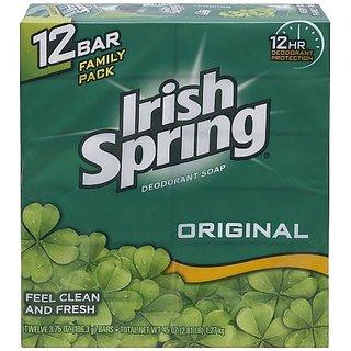Irish Spring Bath Bar Soap, Original, 3.75 oz. Bars, 12-Count