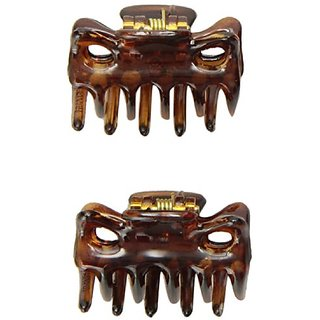 Caravan Ext Tiny French Hair Claw Tortoise Shell Pair