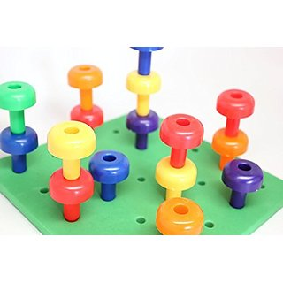 Foam Peg Board Toy - Fine Motor Basic Skills Building Toy - Toddlers and Preschoolers - OT