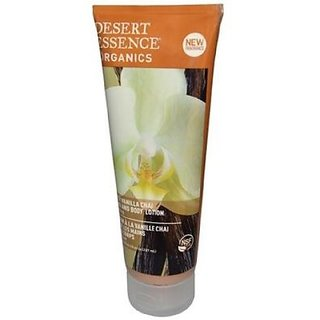 Desert Essence Organics Hand & Body Lotion, Spicy Vanilla Chai, 8 Ounce