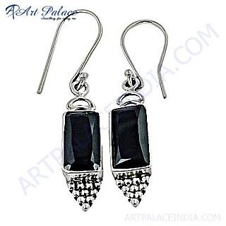 Top Quality & Hot Sale Black Zirconia Silver Earring