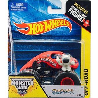 Hot wheels Monster Jam CrushStation red lobster #64 includes monster jam figure