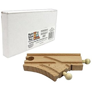 Wood Train Track - Two Way Track (Single Curve) - Works with All Major Brands Including Thomas - By Right Track Toys