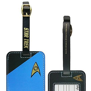 Star Trek Uniform Luggage Tag Blue