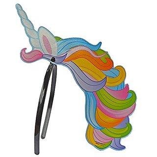 Plastic Unicorn Headband x 6