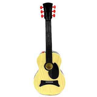 Classic Kids Battery Operated Children Toy Guitar Instrument w- Shoulder Strap, Steel Strings, Plays 15 Pre-Recorded Tun