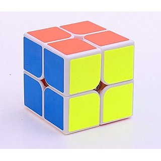 GCA YJ GuanPo Smooth Speed 2x2 Stickerless Puzzle Cube, white