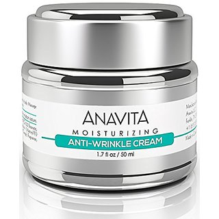 Anavita Moisturizing Anti Wrinkle Anti Aging Cream W- Peptide & Hyaluronic Acid - Day Night - Facial Fine Lines Wrinkles