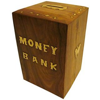 JBJ WD Money Bank with Lock and Brass Work