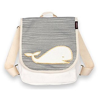 Milkbarn Organic Toddler Backpack (Grey Whale)