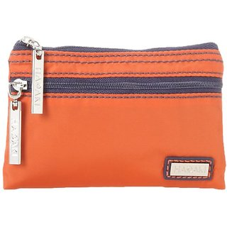 Hadaki Nylon Jewelry Cosmetic Bag,Orange/Navy,One Size