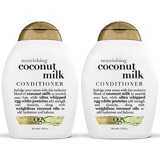 Ogx Nourishing Conditioner - Coconut Milk - 13 oz - 2 pk