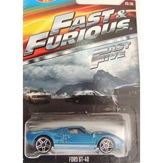 HOT WHEELS 2015 FAST AND FURIOUS RELEASE EXCLUSIVE BLUE FORD GT-40 #8-8 DIE-CAST