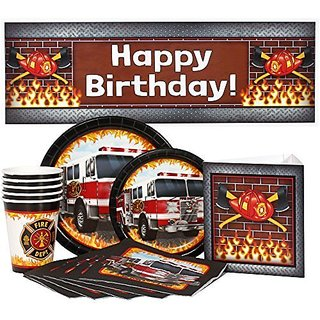 Fire Truck Party Package for 16 Guests